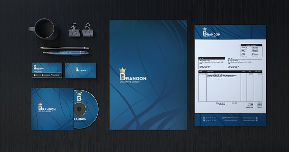 Brandon Corporate Identity in Stationery Templates - product preview 1