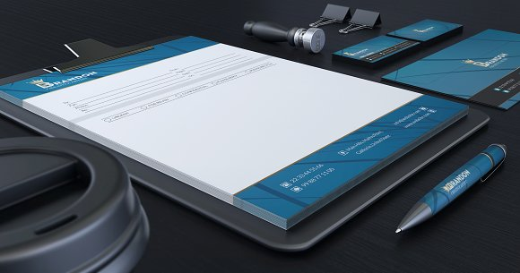 Brandon Corporate Identity in Stationery Templates - product preview 3