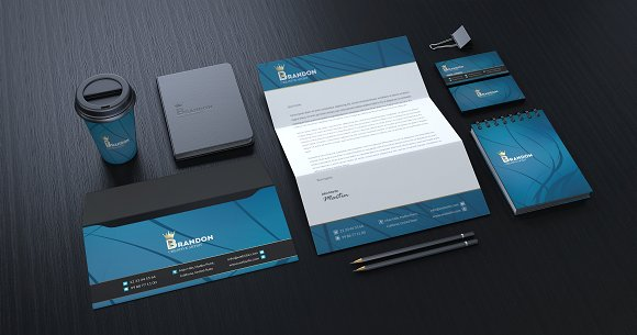 Brandon Corporate Identity in Stationery Templates - product preview 10