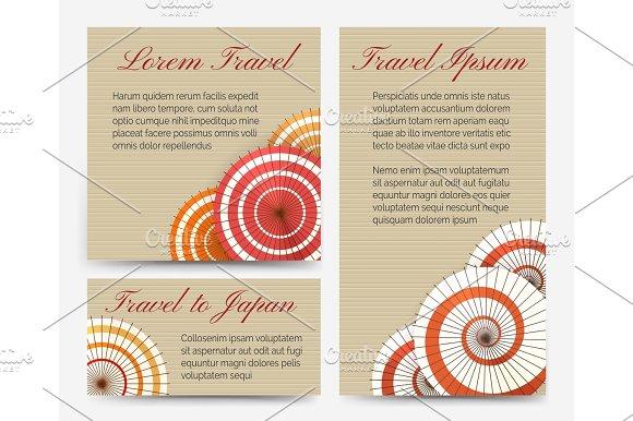 Invitation Cards With Japanese Umbrella Set