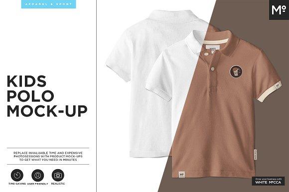 8436f3978 Kids Polo Shirt Mock-up ~ Product Mockups ~ Creative Market