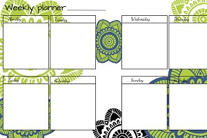 5 Weekly planner design set