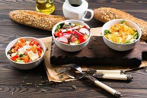 Colorful vegetable salad bowl