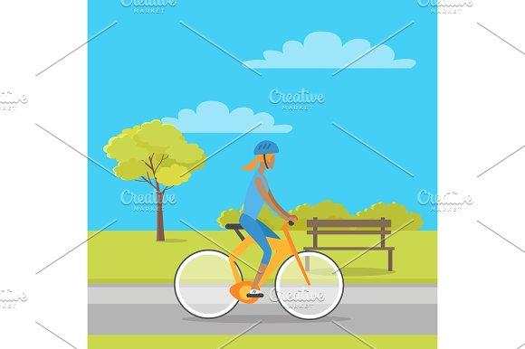 Leisure In City Park Flat Vector Illustration
