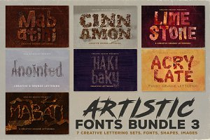 Artistic Fonts Bundle 3