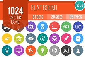 1024 Flat Round Icons (V8)