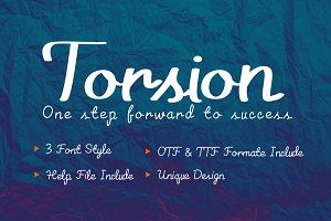 Torsion Font