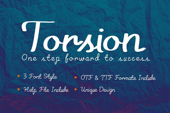 Torsion Font