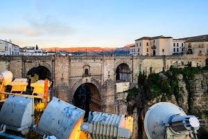 Ronda twilight bridge, Andalucia, Espana