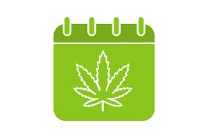 National Weed Day glyph color icon