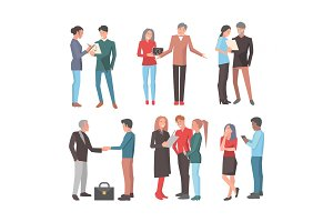 Startup Teams. Big Set of Isolated Illustrations