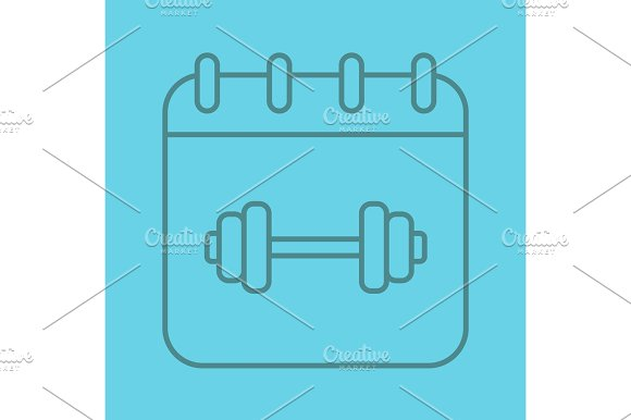 Gym Workout Schedule Color Linear Icon