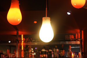 Lamps in a night bar