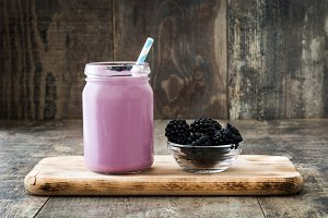 Healthy blackberry smoothie