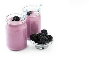 Healthy blackberry smoothie