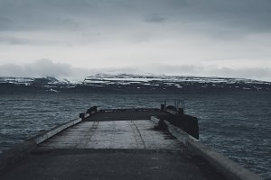 Landing Stage into dark Water