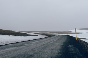 Isolated Road in remote Iceland