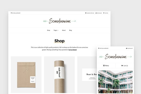 WordPress eCommerce Themes: Hello Detail - Minimal WP Shop Theme - Scandinavian