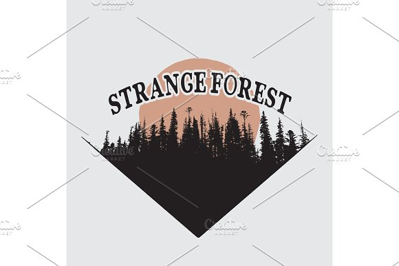 Strange Forest Silhouette