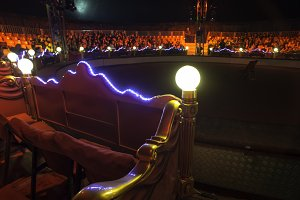 Circus arena interior