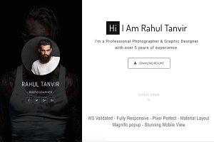 RahulTanvir - Resume HTML Template