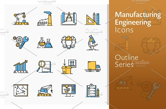 Manufacturing Engineering Icons
