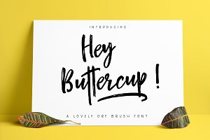 Hey Buttercup! Font + Extras