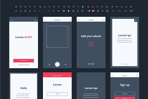 Material Design Mail App Kit