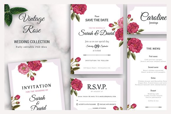 Vintage Rose- Wedding Collection