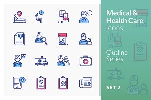 Medical Icons Set 2 - Outline Series