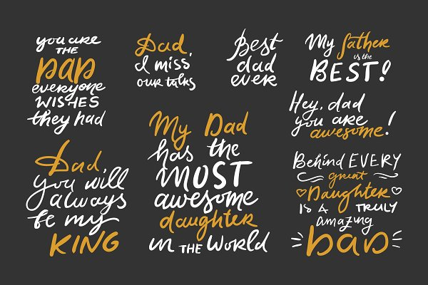 Best Dad Ever 8 Quotes Pre Designed Illustrator Graphics Creative Market