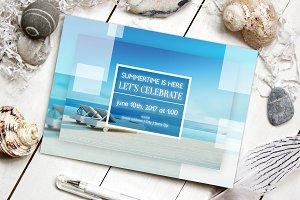 Modern Summer Beach Party Invite