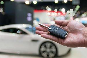 Car key remote on photo