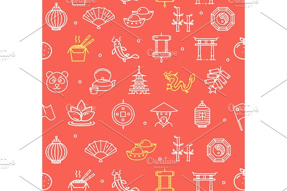 China Pattern Background Vector