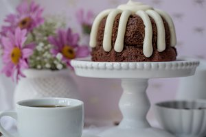 Mini Chocolate Chip Bundt Cake