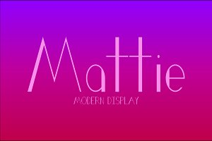 Mattie Typeface