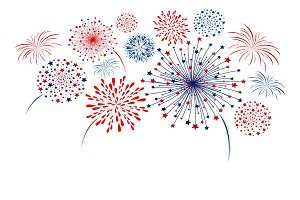 Vector fireworks design