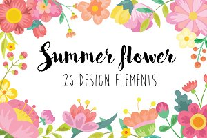Flower Clipart and Vector Set