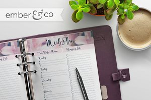 Menu Planner Printable, 4 Sizes