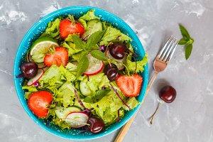 Bright summer salad