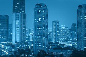 Bangkok cityscape river view