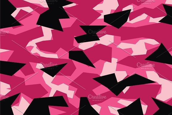 Pink Geometric Camouflage