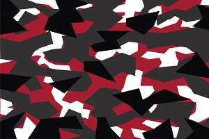 Vector of red geometric Camoflage