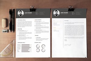 Office Simple CV-Resume Template *C