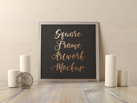 Square Frame Artwork Mockup