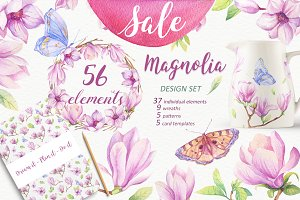 SALE - Watercolor Magnolia