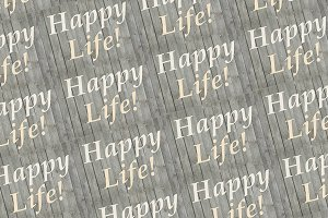 Happy Life Words Pattern