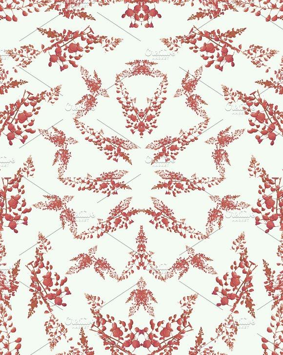 Pop Art Nature Seamless Mosaic Pattern Design