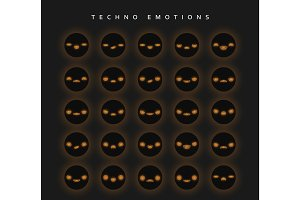 Set techno emotions to create characters.