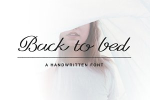 (25% OFF) Back to Bed Font